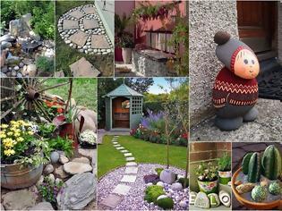 Φωτογραφία για Διαμορφώσεις και Κατασκευές για κήπους-αυλές με Βότσαλα και Πέτρες