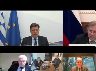 Φωτογραφία για Τηλεδιάσκεψη Βαρβιτσιώτη με τον Ρώσο υπουργό Μεταφορών: Στο επίκεντρο η Μεικτή Διϋπουργική Επιτροπή