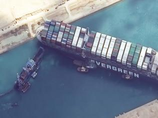 Φωτογραφία για Νέες προσπάθειες αποκόλλησης του τεράστιου πλοίου στο Σουέζ