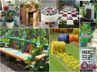 Φωτογραφία για 10 Ξεχωριστές χαμηλού κόστους Ιδέες - Κατασκευές για Κήπους - Εξοχικά σπίτια