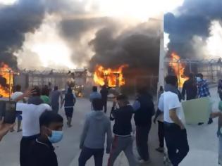 Φωτογραφία για Ένταση με φωτιές μετά την αυτοκτονία πρόσφυγα στο Κέντρο Κράτησης Κορίνθου