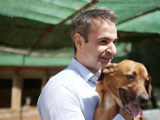 Φωτογραφία για Παγκόσμια Ημέρα αδέσποτων: Ο Μητσοτάκης στο καταφύγιο ζώων της Ηλιούπολης