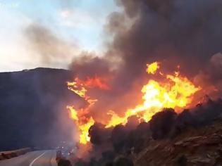 Φωτογραφία για Φωτιά στην Άνδρο: Εκκενώθηκαν χωριά, ενισχύονται οι δυνάμεις - «Ανεξέλεγκτο το μέτωπο», λέει ο δήμαρχος