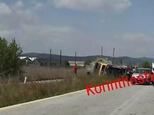 Φωτογραφία για Φορτηγό ντελαπάρισε στις ράγες στην παλιά εθνική Κορίνθου – Άργους.