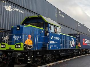 Φωτογραφία για Aύξηση 373,5% κατέγραψε ο αριθμός των τρένων εμπορευμάτων από την επαρχία Τζετζιάνγκ στο 1o τρίμηνο .