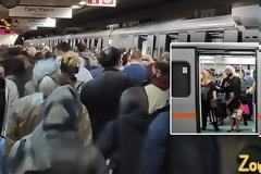 Συνωστισμός στον σταθμό του μετρό Συντάγματος χθες.