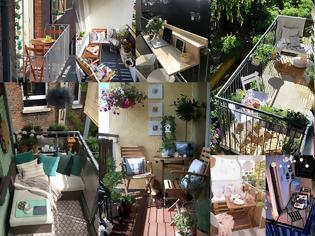 Φωτογραφία για 7 Tρόποι για να διαμορφώσετε λειτουργικά ένα μικρό μπαλκόνι για ...δύο