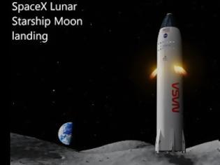 Φωτογραφία για Η NASA επέλεξε την SpaceX του Έλον Μασκ για την επιστροφή του ανθρώπου στη Σελήνη