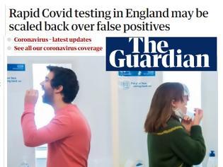 Φωτογραφία για Guardian: Άγγλοι αξιωματούχοι λένε ότι τα θετικά σελφ τεστ είναι εώς και  κατά 62% λανθασμένα!