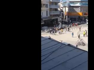 Φωτογραφία για Άγριο ξύλο στο κέντρο του Ηρακλείου (Video)