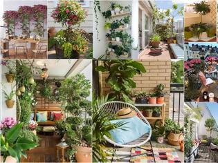 Φωτογραφία για Ιδέες και πρακτικοί τρόποι για να ...πρασινίσετε μικρά μπαλκόνια