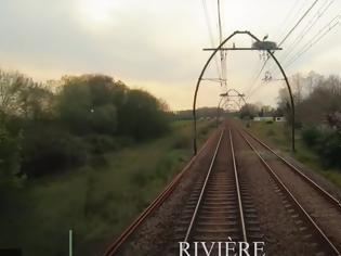 Φωτογραφία για Φωλιές πελαργών πάνω από μια σιδηροδρομική γραμμή.