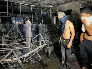 Φωτογραφία για Τραγωδία στο Ιράκ: 27 νεκροί από πυρκαγιά σε νοσοκομείο για ασθενείς covid