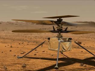 Φωτογραφία για Τρίτη πιο ριψοκίνδυνη πτήση για το «Ingenuity» στον Άρη (βίντεο)