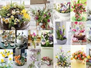 Φωτογραφία για Πασχαλινές διακοσμήσεις τραπεζιού με λουλούδια