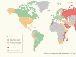 Φωτογραφία για Ο παγκόσμιος χάρτης γυμνισμού -Πού επιτρέπεται η τόπλες ηλιοθεραπεία, πού συλλαμβάνονται οι γυμνιστές