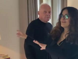 Φωτογραφία για Άντονι Χόπκινς: Χορεύει με τη Σάλμα Χάγιεκ και γιορτάζει το Όσκαρ