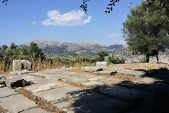 Ο ναός του Καραού Διός (4ου αι. π.Χ.) στην αρχαία πόλη του Αστακού.