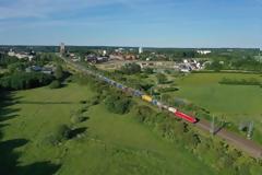 835 μέτρα τρένο από τη Γερμανία προς τη Σουηδία για πρώτη φορά.