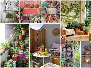 Φωτογραφία για Ιδέες και τρόποι για να ομορφύνετε τους τοίχους στο Καλοκαιρινό Μπαλκόνι σας