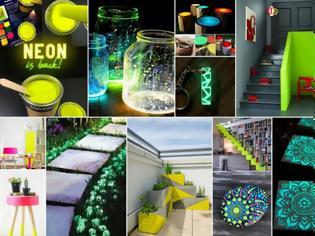 Φωτογραφία για DIY Ιδέες-Κατασκευές με χρώματα που φωσφορίζουν στο σκοτάδι