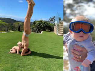 Φωτογραφία για Σάλος με φωτογραφία Αυστραλής Ολυμπιονίκη: Κάνει... κατακόρυφο, θηλάζοντας το μωρό της!
