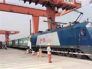 Φωτογραφία για Νέα υπηρεσία εμπορευματικών τρένων ξεκίνησε μεταξύ Κίνας-Ευρώπης.