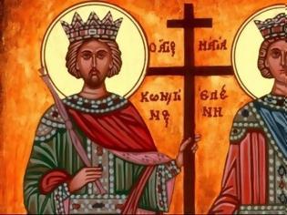 Φωτογραφία για Στον άγιο Κωνσταντίνο αποκαλύφθηκε ο Σταυρός στον ουρανό, και στην αγία Ελένη στη γη