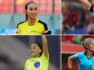 Φωτογραφία για Ιστορικό ματς αποκλειστικά με γυναίκες διαιτητές