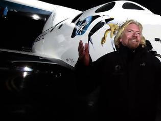 Φωτογραφία για Επανδρωμένη πτήση στο διάστημα έστειλε η Virgin Galactic