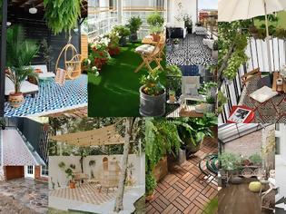 Φωτογραφία για 7 Τρόποι για να καλύψετε το παλιό δάπεδο σε μπαλκόνια - αυλές