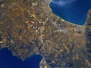 Φωτογραφία για Ο Ισθμός της Κορίνθου από τον Διεθνή Διαστημικό Σταθμό ISS