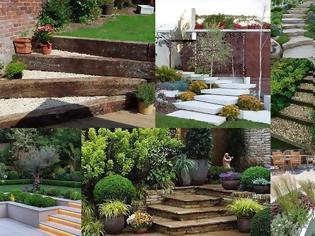 Φωτογραφία για Διαμορφώσεις κήπου με σκάλες - σκαλοπάτια