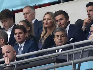 Φωτογραφία για Euro 2020, Ιταλία - Αγγλία: Μπέκαμ, Τομ Κρουζ και Θεοδωρίδης στις εξέδρες του Γουέμπλεϊ