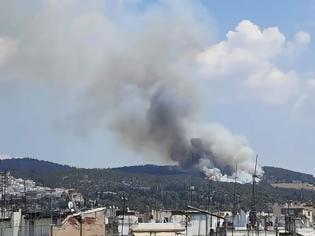 Φωτογραφία για Εστίες φωτιάς σε 4 σημεία εντόπισαν οι πυροσβέστες στο Σέιχ Σου