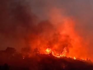 Φωτογραφία για Σάμος: Ανεξέλεγκτη φωτιά - Εκκένωση δύο ξενοδοχείων