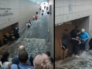 Φωτογραφία για Πλημμύρισε το μετρό του Κιέβου.
