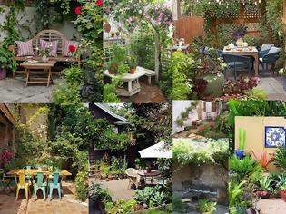 Φωτογραφία για Διαμορφώσεις για μικρούς κήπους - αυλές