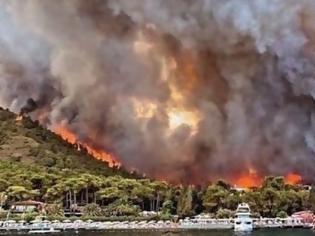 Φωτογραφία για Τουρκία: Στους έξι οι νεκροί από τις δασικές πυρκαγιές - Εκκενώθηκαν σπίτια και ξενοδοχεία στο Μπόντρουμ
