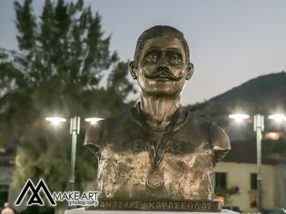 Φωτογραφία για Πραγματοποιήθηκε με μεγάλη επιτυχία η τελετή των αποκαλυπτηρίων της προτομής του Αστακιώτη ολυμπιονίκη Παντελή Καρασεβδά. Την προτομή φιλοτέχνησε ο ταλαντούχος γλύπτης Ευάγγελος Τύμπας