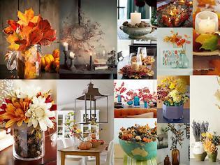Φωτογραφία για 40+ Φθινοπωρινές Διακοσμήσεις με φυσικά υλικά