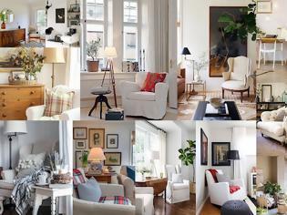 Φωτογραφία για 15+ Διαφορετικές διακοσμήσεις με μια λευκή πολυθρόνα