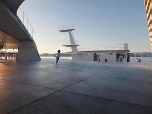 Φωτογραφία για Μια design νησίδα από μπετόν μέσα στη θάλασσα