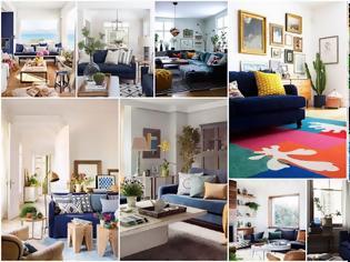 Φωτογραφία για 20+ Εντελώς διαφορετικά Σαλόνια με Μπλε Καναπέδες