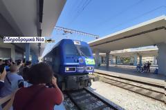 Έφτασε στη Θεσσαλονίκη το Connecting Europe Express. Εικόνες.