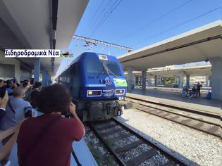 Φωτογραφία για Έφτασε στη Θεσσαλονίκη το Connecting Europe Express. Εικόνες.