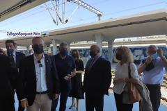 Σιδηροδρομικό σταθμός Θεσσαλονίκης: Τα πηγαδάκια πριν την άφιξη Connecting Europe Express.