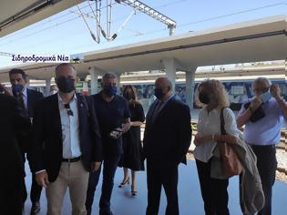 Φωτογραφία για Σιδηροδρομικό σταθμός Θεσσαλονίκης: Τα πηγαδάκια πριν την άφιξη Connecting Europe Express.