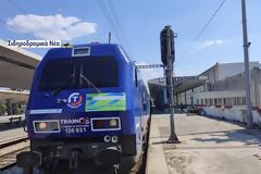 Αναχώρηση από τη Θεσσαλονίκη του Connecting Europe Express. Εικόνες και βίντεο.