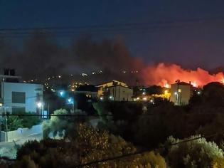 Φωτογραφία για Ολονύχτια μάχη με τις φλόγες στη Νέα Μάκρη - Εντολή εκκένωσης στο Λιβίσι - Κάηκαν δύο σπίτια